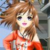 أنيمي فتاة في الشارع