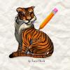 لعبة تعليم رسم صورة نمر