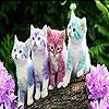 لعبة بازل صورة القطط الملونة