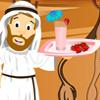 لعبة عمل عصير الفراولة باللبن