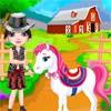 لعبة تلبيس الفتاة و الحصان