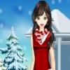 لطيف فتاة الشتاء